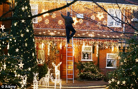 deck the halls but dont forget the fa la la la ladder - Christmas Tree Ladder Decoration